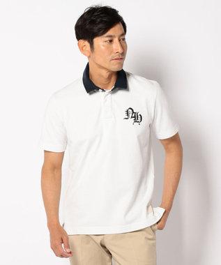 J.PRESS MEN スタンドラガー ポロシャツ ホワイト系