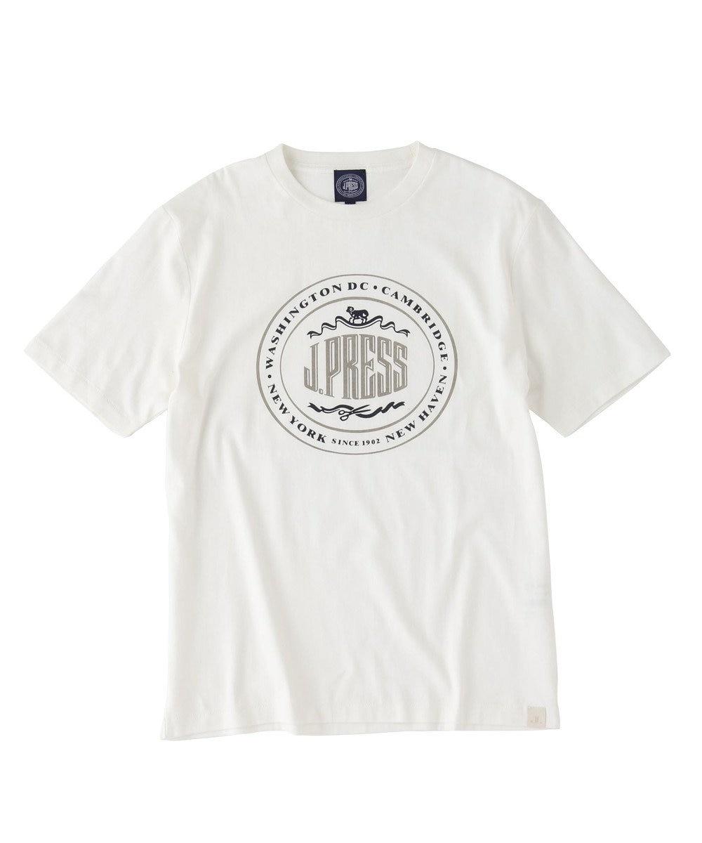 J.PRESS MEN オーバル Tシャツ ホワイト系