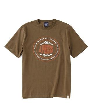 J.PRESS MEN オーバル Tシャツ カーキ系