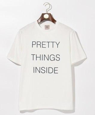 J.PRESS MEN PRETTY THINGS INSIDE ロゴTシャツ ホワイト系
