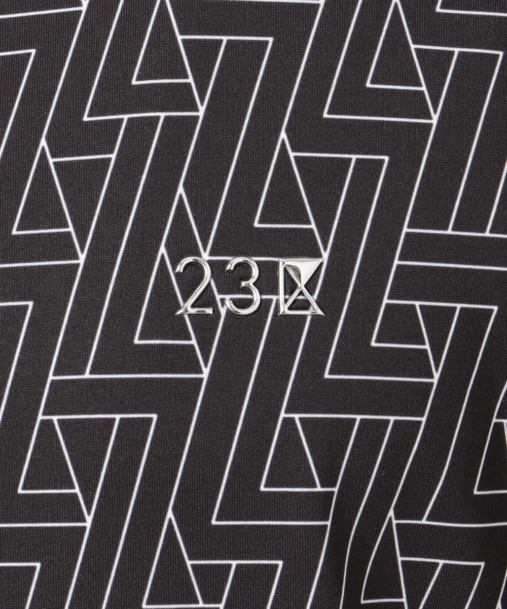 23区GOLF 【MEN】【IMPORT】柄シャツ ブラック系5
