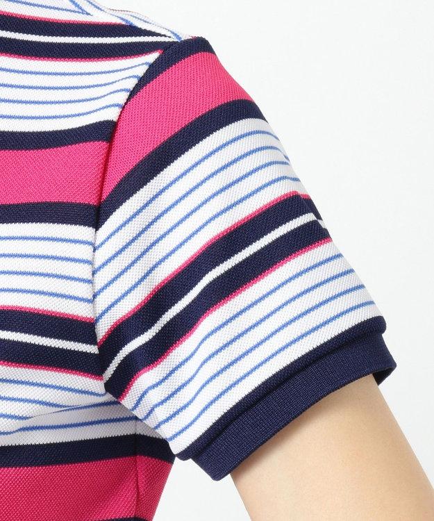 23区GOLF 【WOMEN】ベアかのこマルチボーダー シャツ