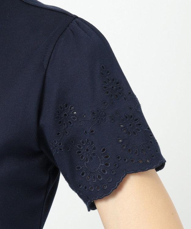 23区GOLF 【WOMEN】【吸汗速乾】カノコスカラップ刺繍 シャツ