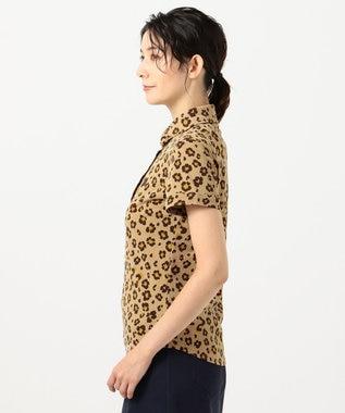 23区GOLF 【WOMEN】【吸汗速乾/UV】レオパード柄 プリントカノコシャツ ベージュ系5