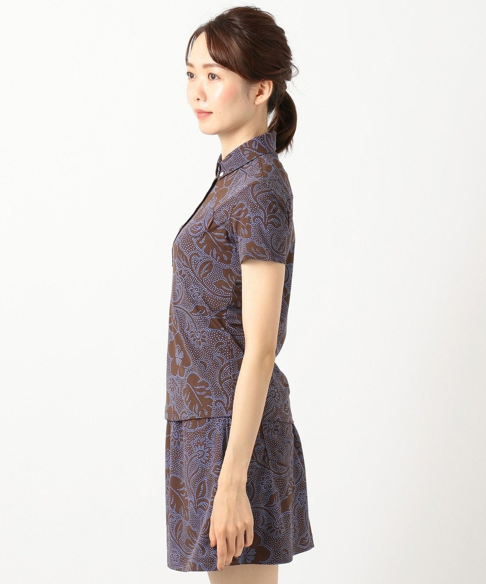 23区GOLF 【WOMEN】【REYN SPOONER】ファインカノコプリント ポロシャツ ダークブラウン系5