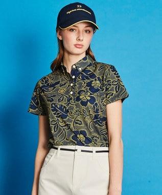 23区GOLF 【WOMEN】【REYN SPOONER】ファインカノコプリント ポロシャツ ネイビー系5