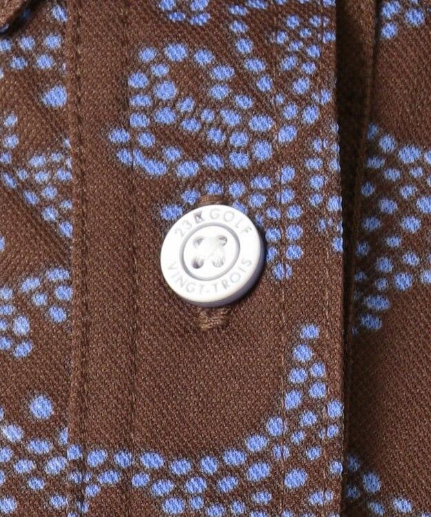 23区GOLF 【WOMEN】【REYN SPOONER】ファインカノコプリント ポロシャツ