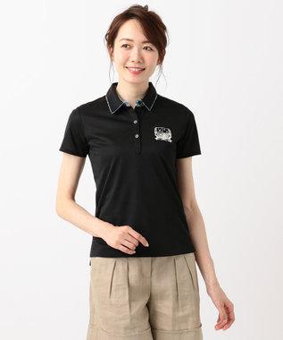 23区GOLF 【WOMEN】【吸水速乾 / UV】トランスクールカノコ ポロシャツ ブラック系