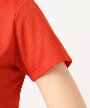 23区GOLF 【WOMEN】【吸水速乾 / UV】トランスクールカノコ ポロシャツ オレンジ系