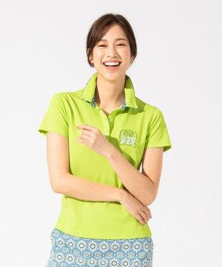 23区GOLF 【WOMEN】【吸水速乾 / UV】トランスクールカノコ ポロシャツ 黄緑系