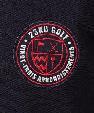 23区GOLF 【キングサイズ】吸水速乾/UV加工 ハイストレッチ鹿子 ポロシャツ ホワイト系