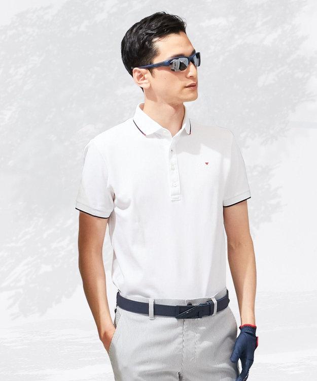 23区GOLF 【MEN】【吸汗速乾/UV】エッセンシャル ホワイトシャツ