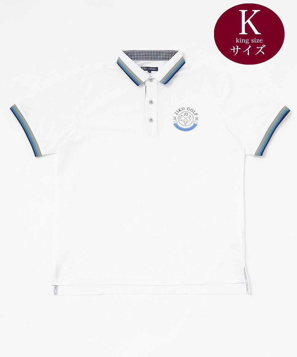 23区GOLF 【キングサイズ】【UV/吸汗速乾】MOONTOP かのこ シャツ ホワイト系
