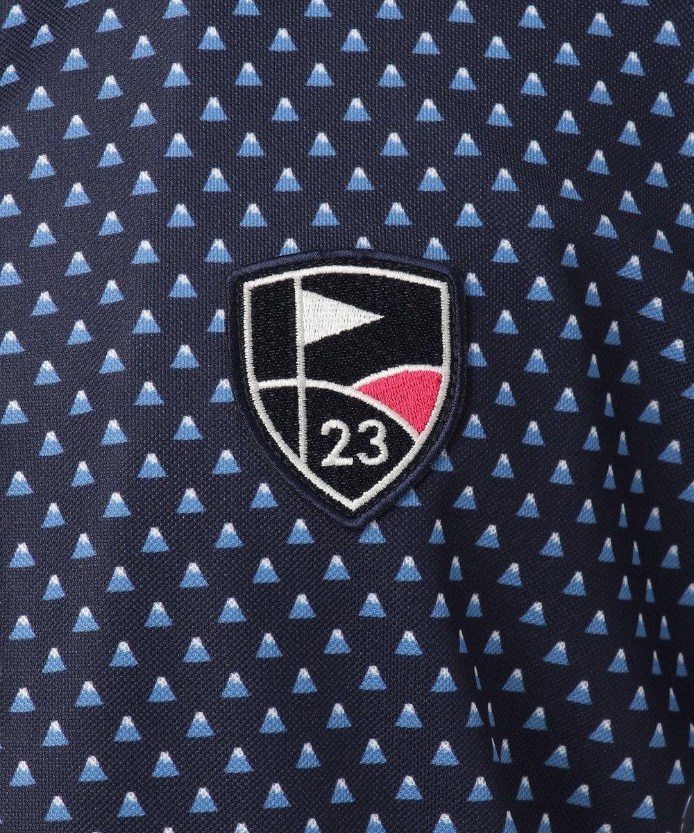 23区GOLF 【キングサイズ】【UV/吸汗速乾】富士柄 プリント シャツ ホワイト系5