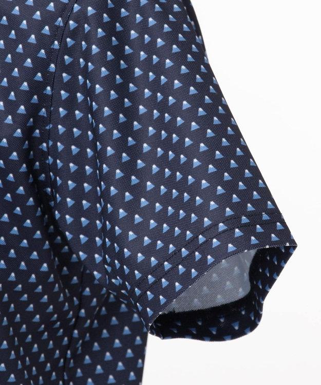 23区GOLF 【キングサイズ】【UV/吸汗速乾】富士柄 プリント シャツ