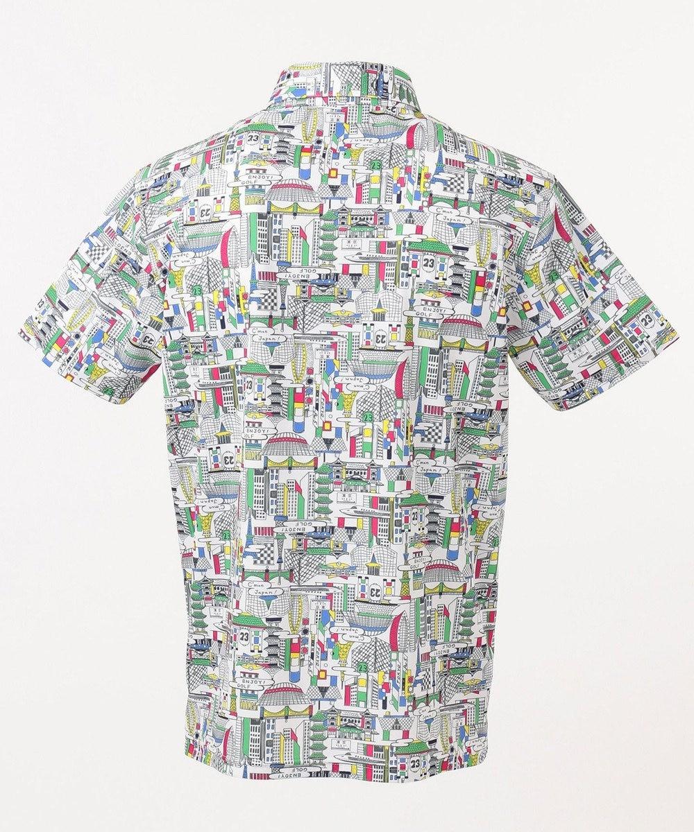 23区GOLF 【MEN】【UV/吸汗速乾】TOKYO MAP柄 シャツ ホワイト系5