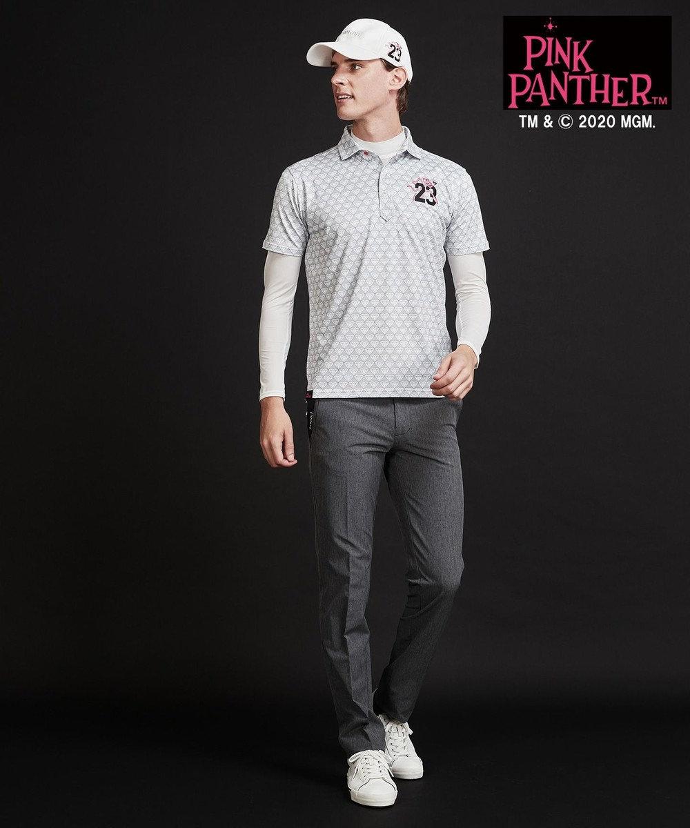23区GOLF 【23区GOLF× pink panther】【MEN】ピンクパンサー総柄シャツ ホワイト系5