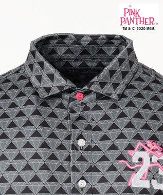 23区GOLF 【23区GOLF× pink panther】【MEN】ピンクパンサー総柄シャツ ブラック系5