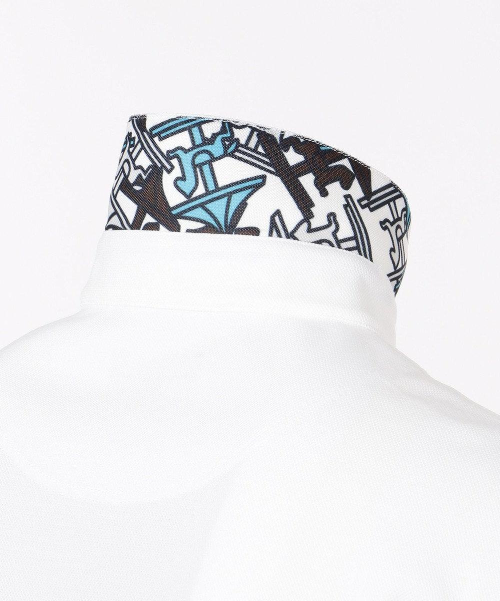 23区GOLF 【MEN/日本製/吸汗速乾/UV】ハイストレッチ鹿子 シャツ ホワイト系