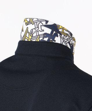 23区GOLF 【MEN/日本製/吸汗速乾/UV】ハイストレッチ鹿子 シャツ ネイビー系