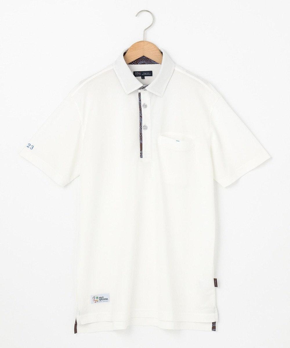 23区GOLF 【MEN】【REYN SPOONER】ファインカノコ ポロシャツ ホワイト系