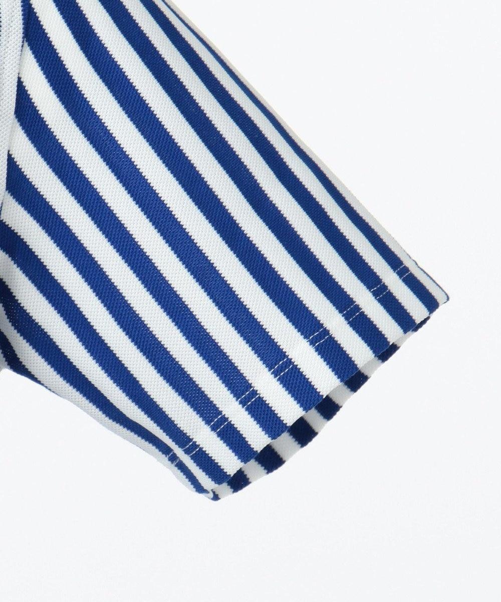 23区GOLF 【MEN】【吸水速乾 / UVケア】キャンディストライプ柄 ポロシャツ ダルブルー系2