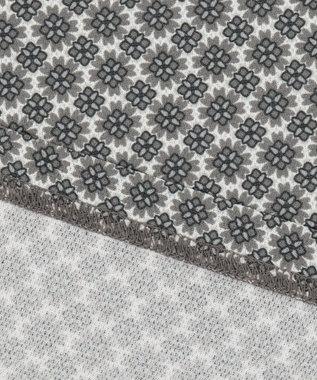23区GOLF 【キングサイズ】花小紋柄プリント ポロシャツ ライトグレー系5