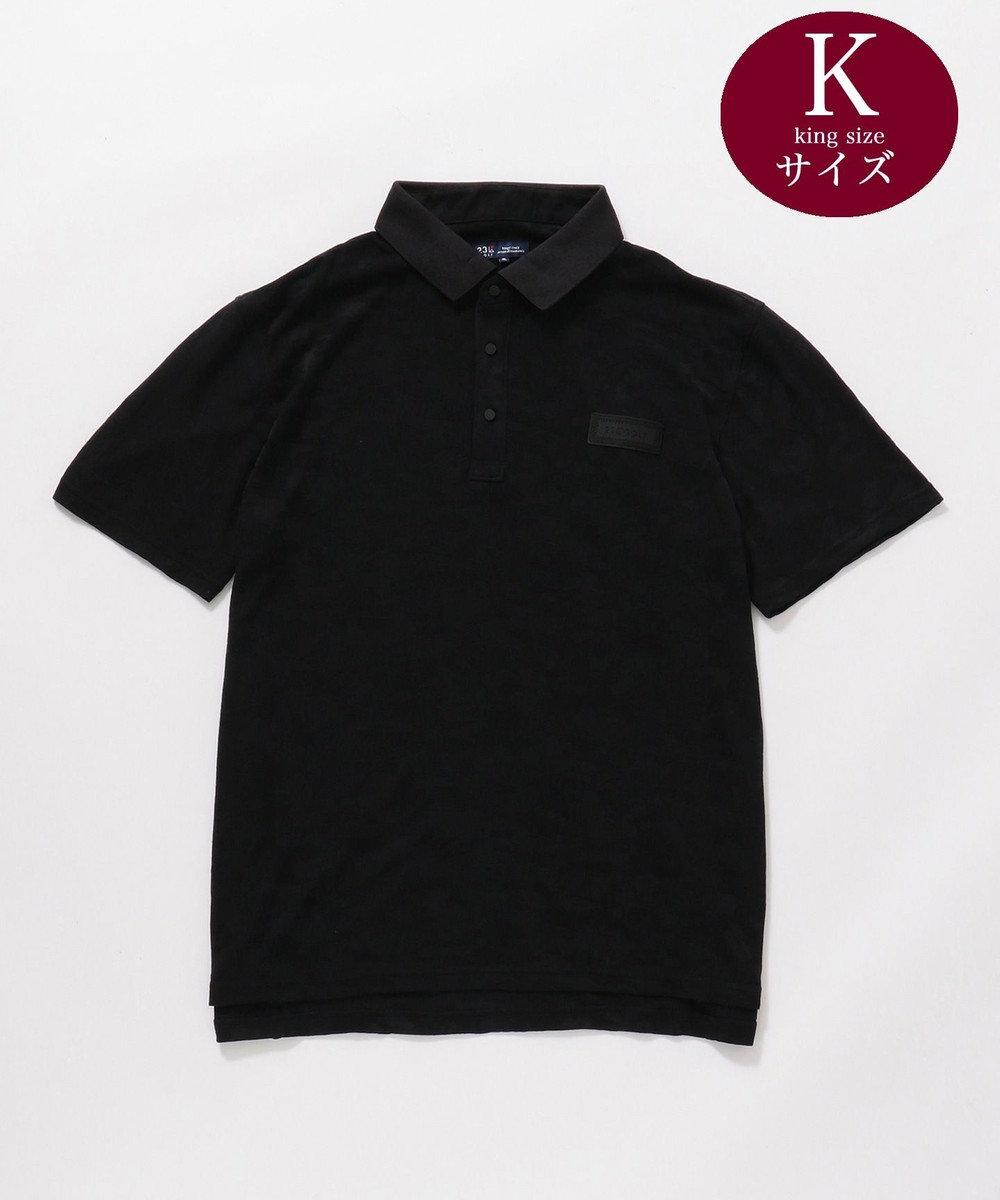 23区GOLF 【キングサイズ】【吸水速乾 / UV】カモフラリンクス ポロシャツ ブラック系