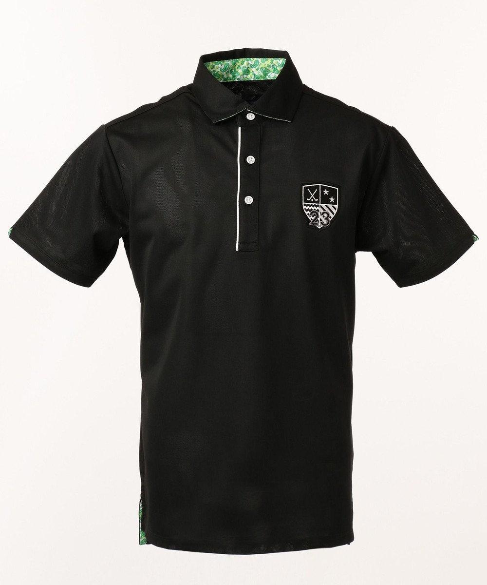 23区GOLF 【MEN】【吸水速乾 / UV】トランスクールカノコ ポロシャツ ブラック系