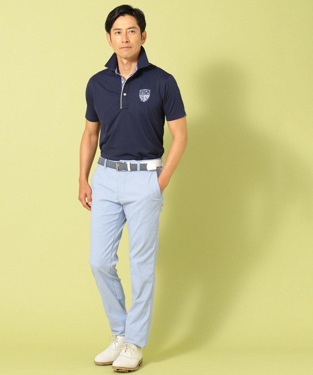 23区GOLF 【MEN】【吸水速乾 / UV】トランスクールカノコ ポロシャツ オレンジ系