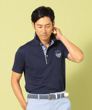 23区GOLF 【MEN】【吸水速乾 / UV】トランスクールカノコ ポロシャツ ネイビー系