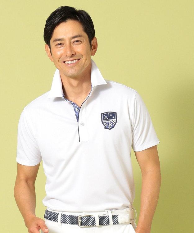 23区GOLF 【MEN】【吸水速乾 / UV】トランスクールカノコ ポロシャツ ホワイト系