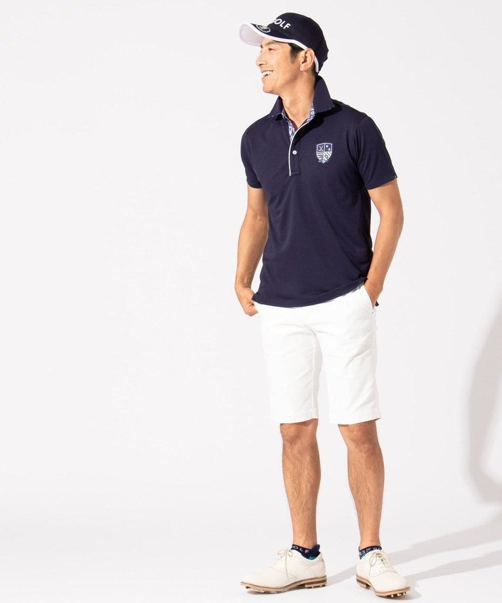 23区GOLF 【キングサイズ】【吸水速乾 / UV】トランスクールカノコ ポロシャツ ホワイト系