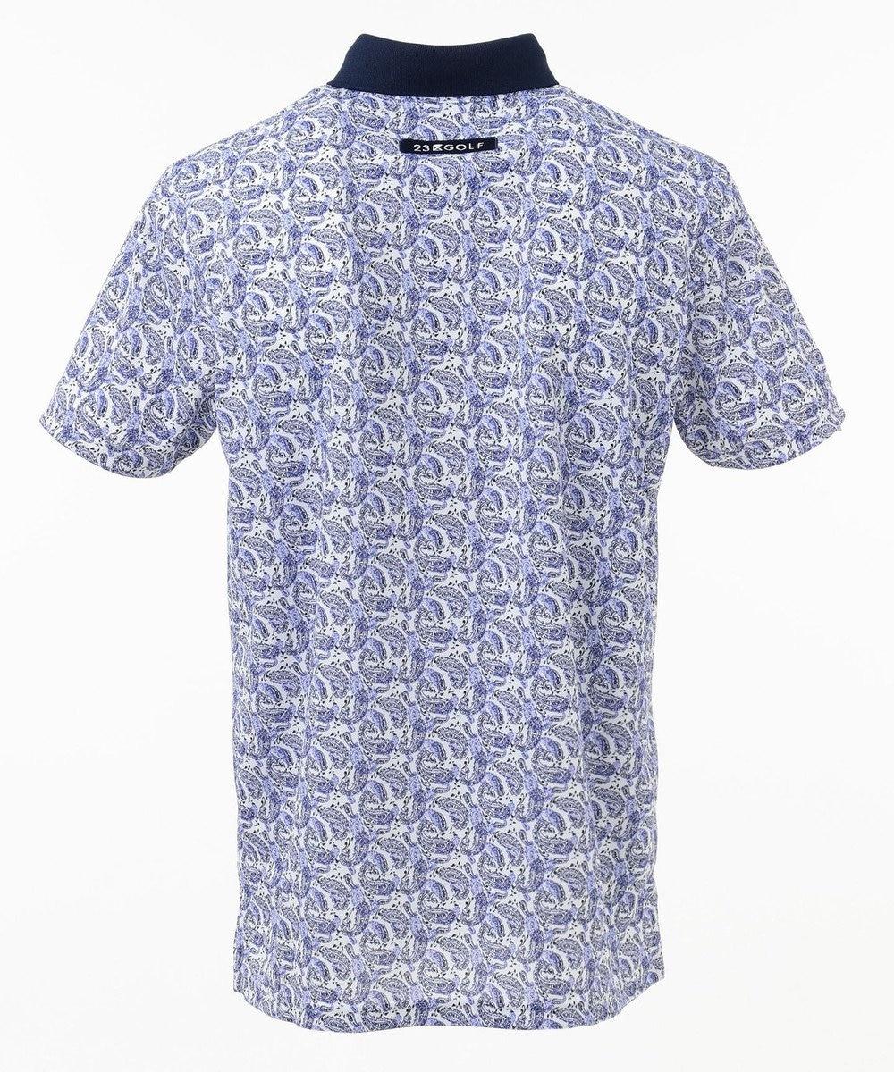 23区GOLF 【MEN】【吸水速乾 / UV】ペイズリープリント ポロシャツ ネイビー系5