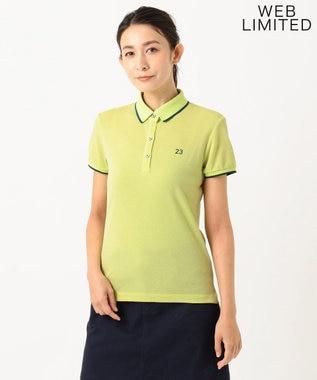 23区GOLF 【WOMEN】【WEB&一部店舗限定】ポロシャツ 黄緑系