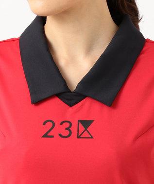 23区GOLF 【WOMEN】【IMPORT】ノースリーブ ポロシャツ ホワイト系