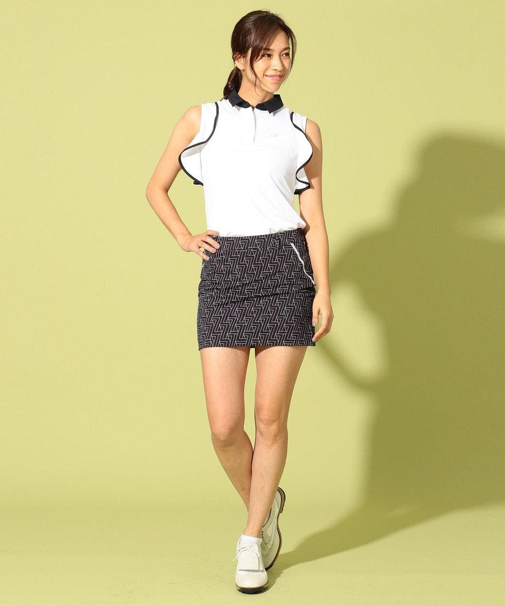 23区GOLF 【WOMEN】【IMPORT】フリルノースリーブ ポロシャツ ホワイト系