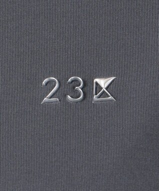23区GOLF 【WOMEN】【IMPORT】フリルノースリーブ ポロシャツ ブラック系
