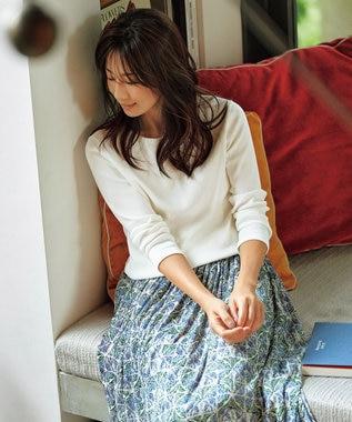組曲 【東原亜希さん着用/KMKK】コットンフライス カットソー(番号KJ26) ホワイト系