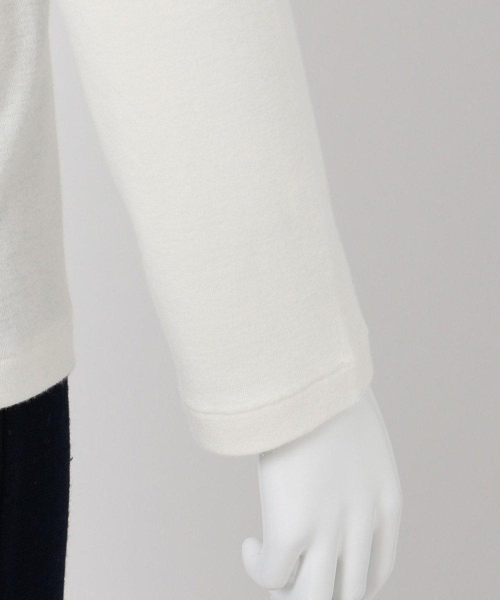 組曲 【VERYWEB掲載/KMKK】ソフトコットン ハイネック カットソー(KL32) ホワイト