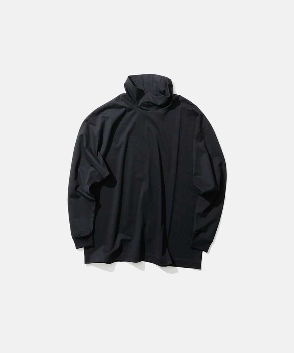 ATON SUVIN AIR SPINNING / オーバーサイズハイネックプルオーバー(UNISEX) BLACK