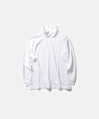 ATON SUVIN AIR SPINNING / オーバーサイズハイネックプルオーバー(UNISEX) WHITE
