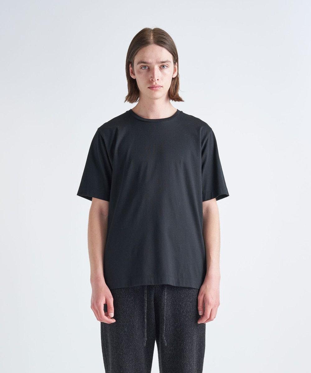 ATON 50/2 ORGANIC / クルーネックTシャツ(UNISEX) BLACK