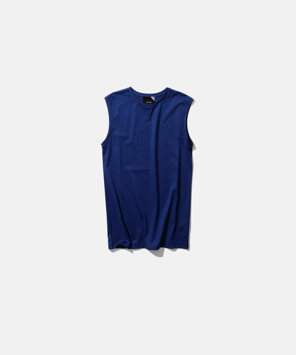 ATON SUVIN60/2   タンクトップ BLUE