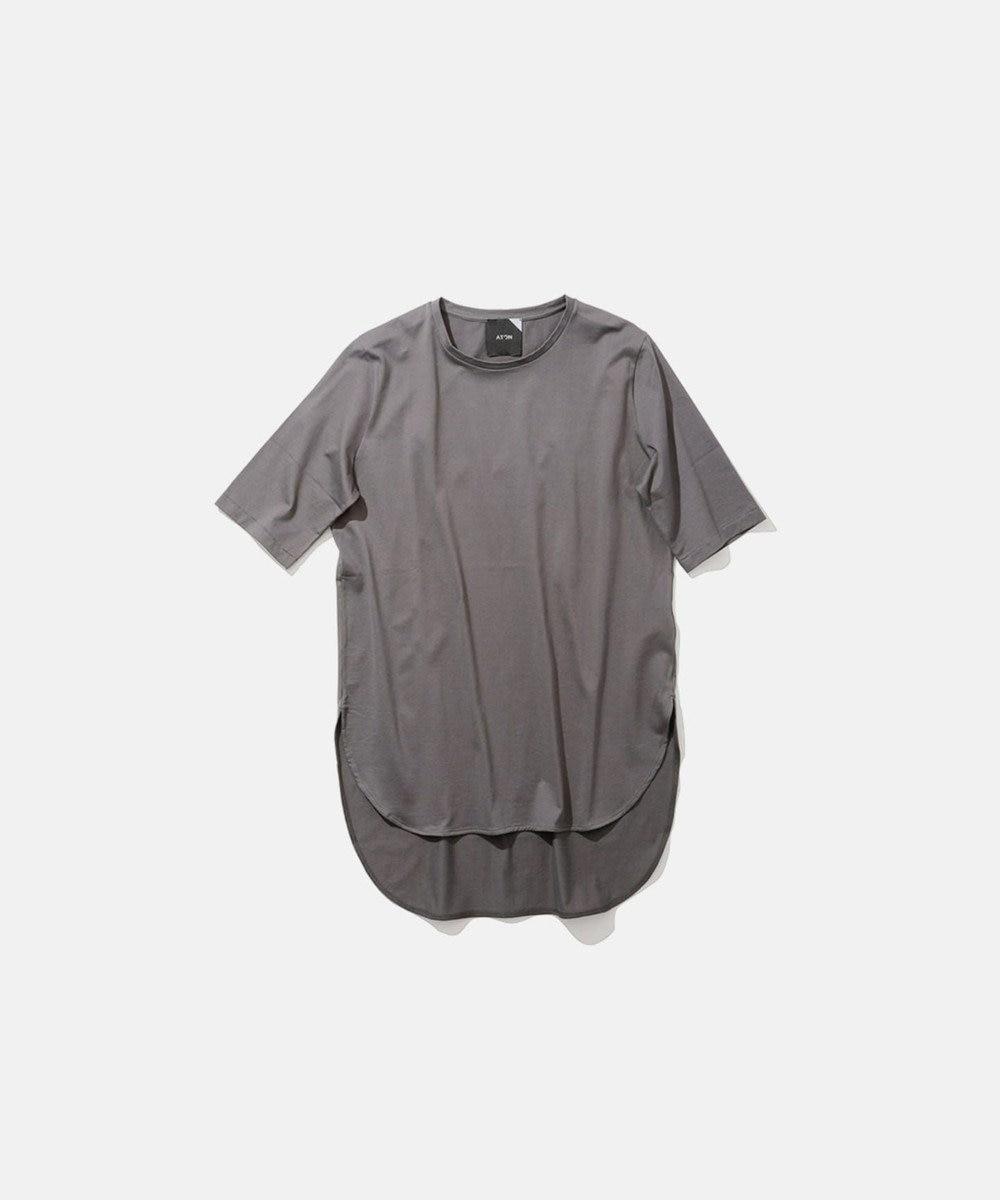 ATON SUVIN 60/2 | ラウンドヘムTシャツ CHARCOAL GRAY