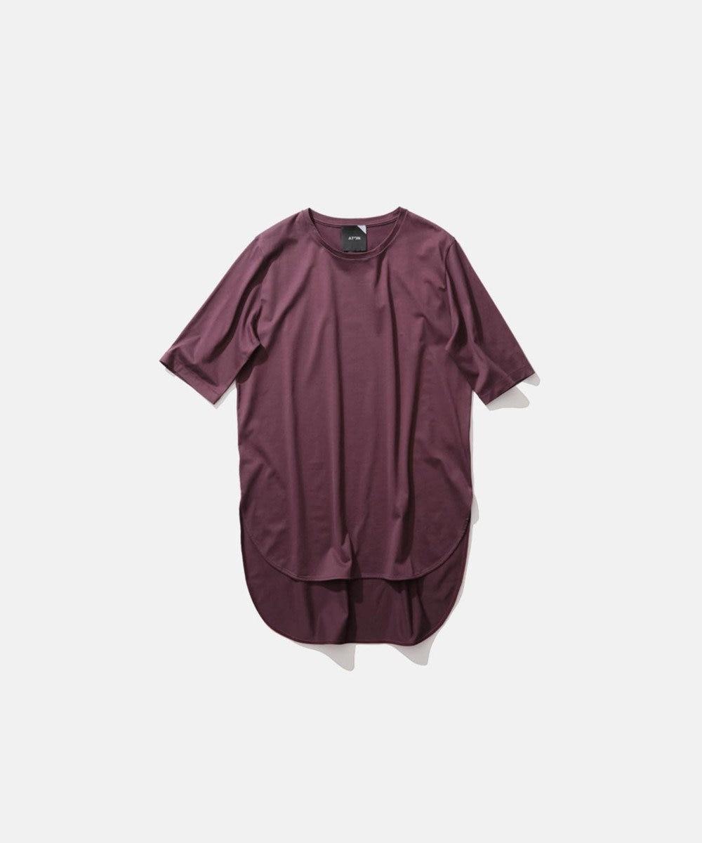 ATON SUVIN 60/2 | ラウンドヘムTシャツ BURGUNDY