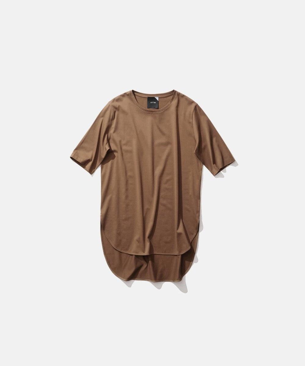 ATON SUVIN 60/2 | ラウンドヘムTシャツ KHAKI