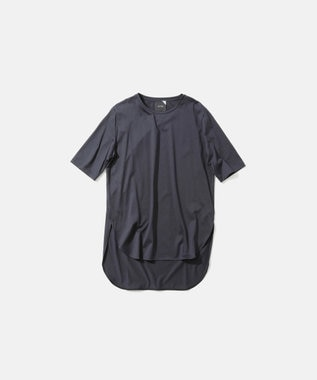 ATON SUVIN 60/2 | ラウンドヘムTシャツ NAVY