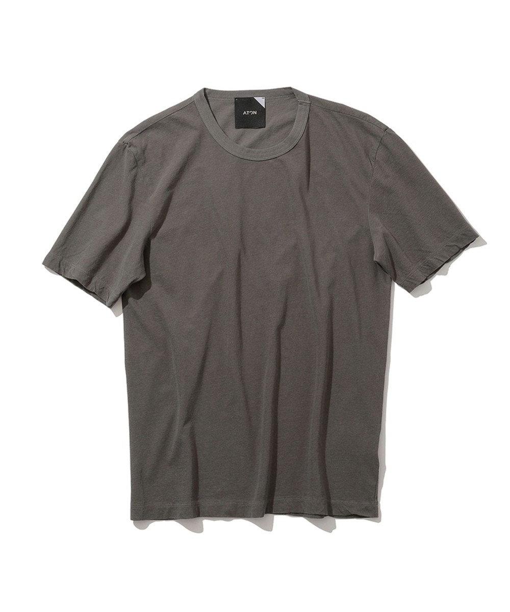 ATON FRESCA | クルーネックTシャツ - UNISEX CHARCOAL GRAY