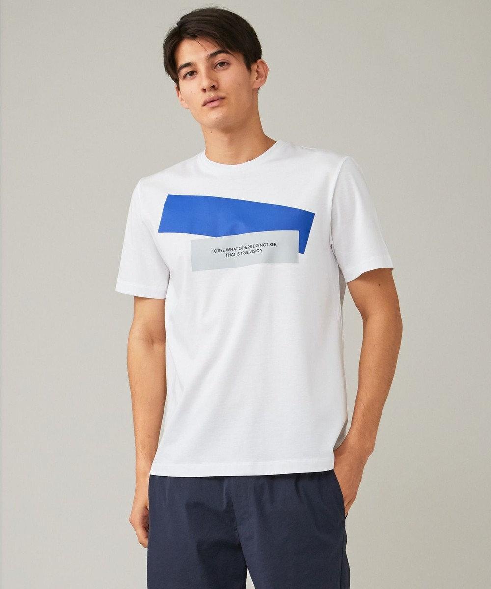 CK CALVIN KLEIN MEN リヨセルコットンジャージー メッセージグラフィック Tシャツ ホワイト系5